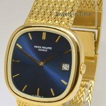 Patek Philippe Mens Jumbo Ellipse TV Screen 18k Gold Watch &...