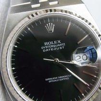 Rolex Datejust Oysterquartz Stahl 36mm Schwarz Deutschland