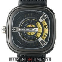 Sevenfriday M Series PVD Coated Steel 47mm Black & Gold Dial...