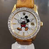 Rolex Oyster 1501 Mickey 14K Solid Gold Diamond 1962 Automatic...