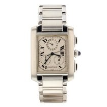 Cartier Tank Française pre-owned Silver Chronograph Steel