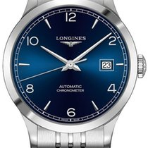 Longines Record Steel 38.5mm Blue United States of America, New York, Airmont