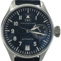 IWC Platinum Automatic Blue No numerals 46mm pre-owned Big Pilot