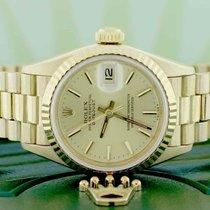 Rolex Lady-Datejust Sárgaarany 26mm Pezsgőszínű