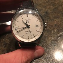 TAG Heuer Carrera Calibre 7 pre-owned 39mm Silver Date GMT Leather