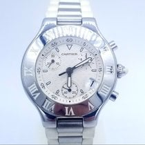 Cartier 21 Chronoscaph Steel 38mm Black United States of America, New Jersey, Long Branch