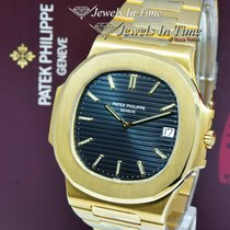 Patek Philippe Yellow gold Automatic Black 41mm pre-owned Nautilus
