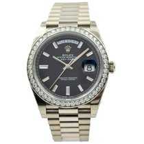 Rolex Day-Date 40 White gold 40mm Black