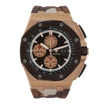 Audemars Piguet Rose gold Automatic Brown No numerals 44mm new Royal Oak Offshore Chronograph