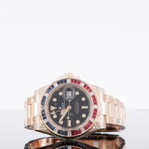 Rolex Rose gold Automatic No numerals 40mm new GMT-Master II