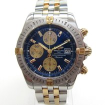 Breitling Chronomat Evolution Gold/Steel 44mm Blue No numerals