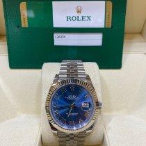 Rolex Or blanc Remontage automatique Bleu 41mm occasion Datejust