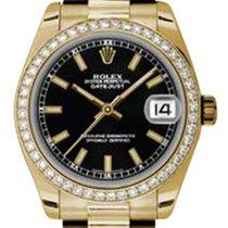 勞力士 (Rolex) Datejust Ladies Midsize 178288-BLKSDP Black Index...
