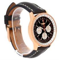Breitling Navitimer 01 18k Rose Gold Black Dial Watch Rb0120
