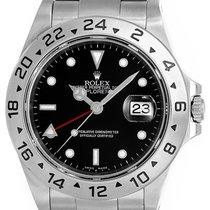 Rolex Explorer II Men's Stainless Steel Watch 16570 Black...