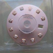Rolex DATEJUST WATCH PART SALMON FACTORY DIAMOND DIAL NEW