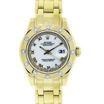 Rolex Lady-Datejust Pearlmaster Yellow gold 28mm Roman numerals