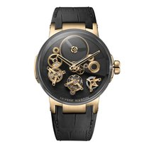 Ulysse Nardin Executive Skeleton Tourbillon Red gold 44mm Black