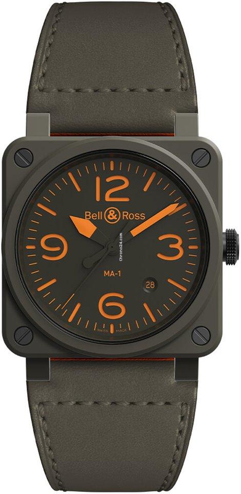 Bell & Ross BR 03-92 Ceramic BR0392-KAO-CE/SCA MA-1 Pilot 2021 new