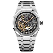 Audemars Piguet Royal Oak Double Balance Wheel Openworked Ocel 41mm Průhledná Bez čísel