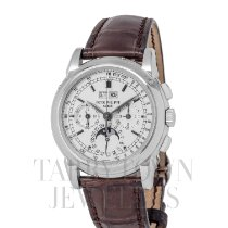 Patek Philippe Perpetual Calendar Chronograph White gold 40mm Silver United States of America, New York, Hartsdale
