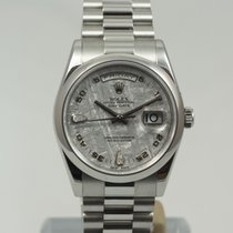 Rolex Day-Date 36 Platino 36mm Azul