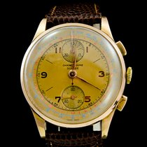 Chronographe Suisse Cie Ροζέ χρυσό 37mm Χειροκίνητη εκκαθάριση μεταχειρισμένο