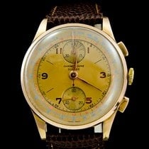 Chronographe Suisse Cie Or rose 37mm Remontage manuel occasion Belgique, Brussel