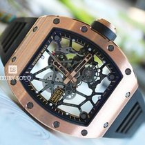 Richard Mille Rose gold Manual winding Transparent 48mm new RM 035