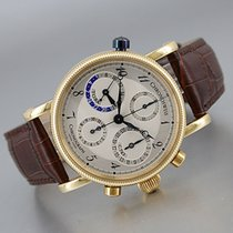Chronoswiss Tora Yellow gold 38mm Silver (solid) Arabic numerals