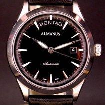 Almanus Automatik Tag/Datum Mit Glasboden seltene sehr...