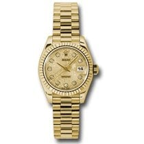 Rolex Lady-Datejust Yellow gold 26mm Champagne