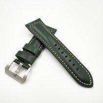 沛納海 26mm Green Panerai Style Calf Leather Watch Band Replaceme...