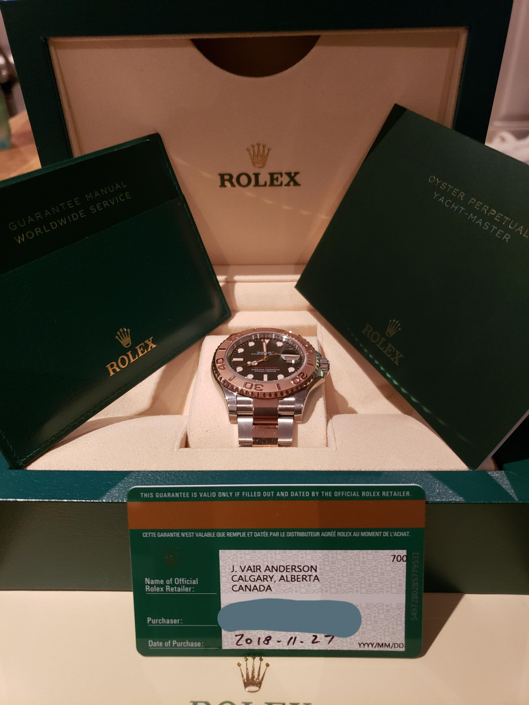 Rolex Yacht-Master 40 Oystersteel and Everose New Unworn for