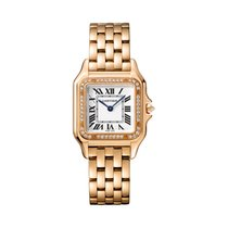 Cartier new Quartz 27mm Rose gold Sapphire crystal