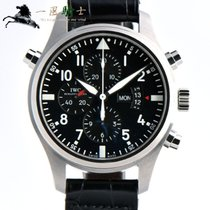 IWC Pilot Double Chronograph Aço 46mm Preto