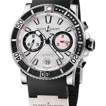Ulysse Nardin Maxi Marine Diver new Automatic Chronograph Watch with original box and original papers 8003-102-3/916