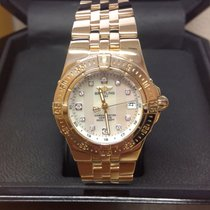 Breitling Starliner Yellow gold 30mm Mother of pearl No numerals