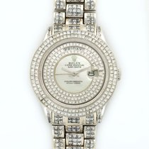 Rolex Day-Date 18K Solid White Gold MOP Automatic Diamonds