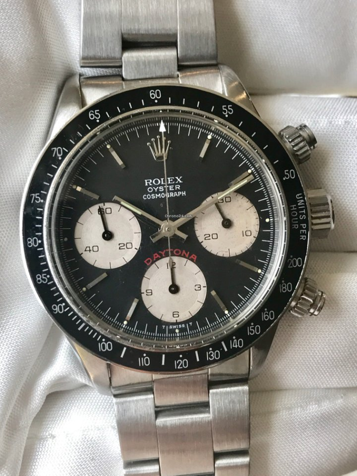 Rolex Cosmograph Daytona Big Red Stainless Steel Watch