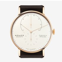 NOMOS Lambda Yellow gold 42mm Silver Arabic numerals