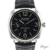Panerai Chronometer 45mm Manual winding 2015 pre-owned Radiomir Black Seal Black
