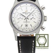 Breitling Transocean Chronograph 38 Stahl 38mm Silber