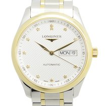 Longines Yellow gold Automatic Silver 38.5mm new Master Collection