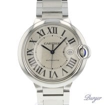 Cartier new Automatic Center Seconds Blue Steel Hands Quick Set Only Original Parts 42mm Steel Sapphire Glass
