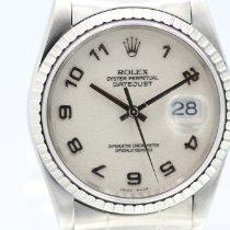 Rolex Datejust Сталь 36mm Белый Aрабские