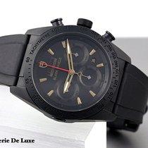 Tudor Fastrider Black Shield gebraucht 42mm Schwarz Chronograph Datum Faltschließe