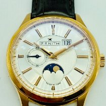 Zenith Captain Moonphase Rose gold 40mm Silver United States of America, New York, NEW YORK