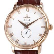 Omega Rose gold Automatic White Roman numerals 39mm pre-owned De Ville Prestige