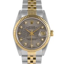 Rolex Datejust 31mm Steel/Gold Grey Jubilee Diamond Dial...